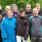 Die Mastersmannschaft des SV: von links: hinten: Laura Werth, Miriam Lange, Sabrina Fiege, Oliver Tweeboom, Matthias Thull, Matthias Mertens; vorne von links: Frederik Hahne, Sandra Guarino, Sandra Böning und Klaus Wolf