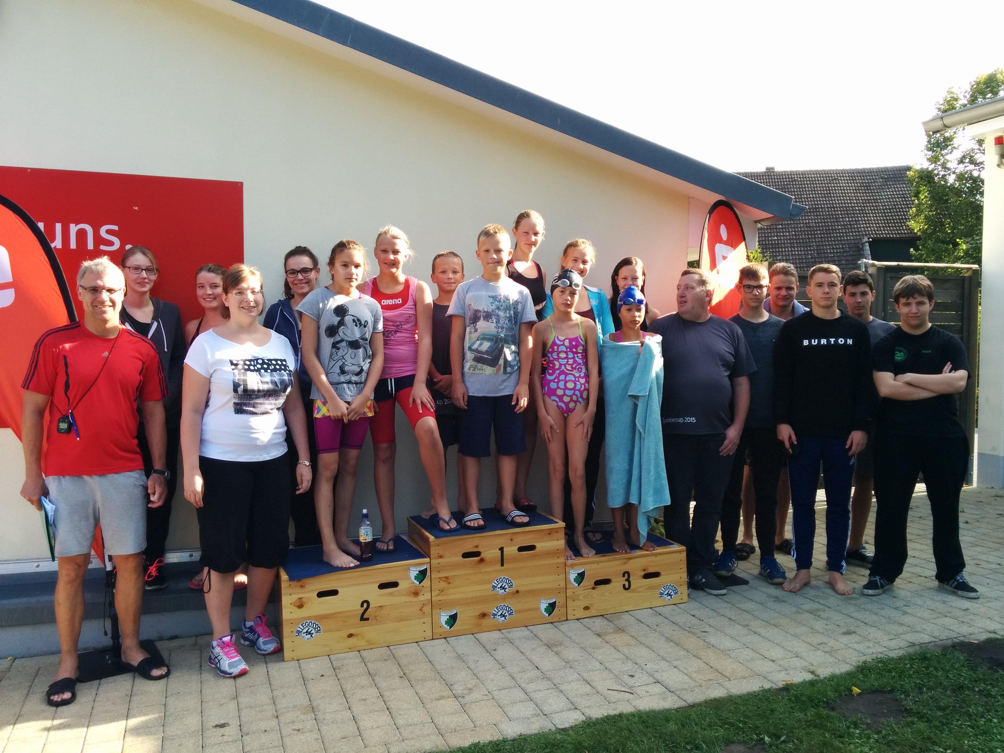 Die erfolgreiche Mannschaft des SV in Hillegossen